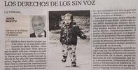 Artículo del Defensor de la Infancia y la Adolescencia de Andalucía: Los derechos de los sin voz