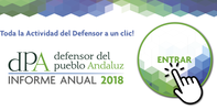 11.15 h: Entrega del Informe Anual 2018 del dPA a la Presidenta del Parlamento de Andalucía.