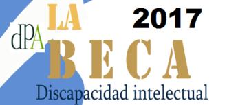 Beca 2017 destinada a persona con discapacidad psíquica, del tipo discapacidad intelectual