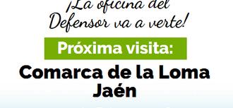 La Oficina de Atención Ciudadana del Defensor estará en la Comarca de La Loma (Jaén) los días 1 y 2 de febrero