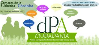 Visita a la comarca de la Subbética cordobesa. 28 y 29 septiembre 2017. Oficina móvil en Lucena
