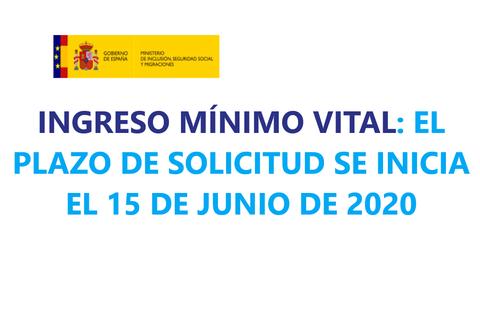 Imagen texto: El plazo de solicitud se inicia el 15 de junio de 2020