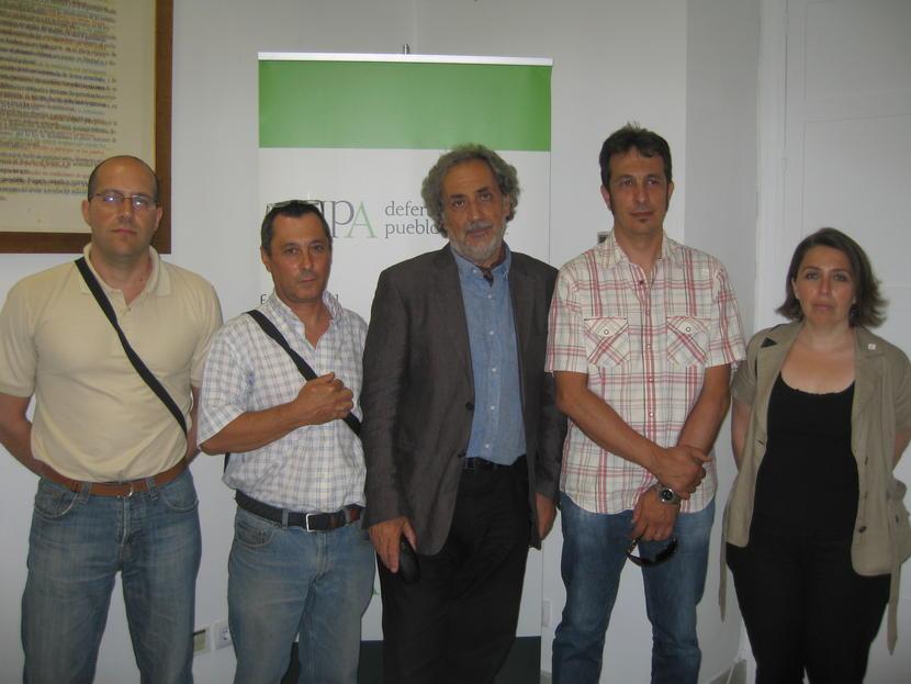 Jueves 14 de Junio. Reunión con trabajadores de la Mancomunidad del Bajo Guadalquivir.