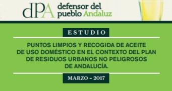 Puntos limpios y recogida de aceite de uso doméstico en el contexto del plan de residuos urbanos no peligrosos de Andalucía