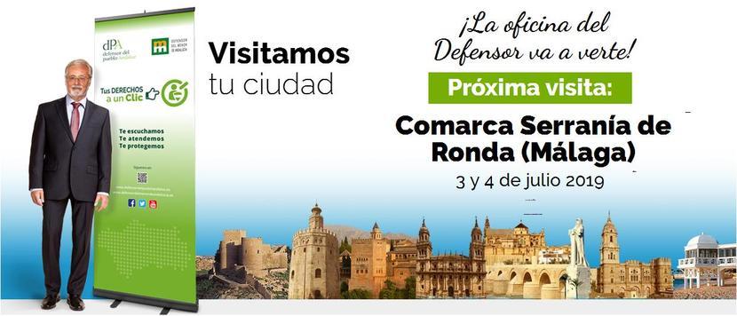 El Defensor del Pueblo atiende a la ciudadanía de la Serranía de Ronda y Casares